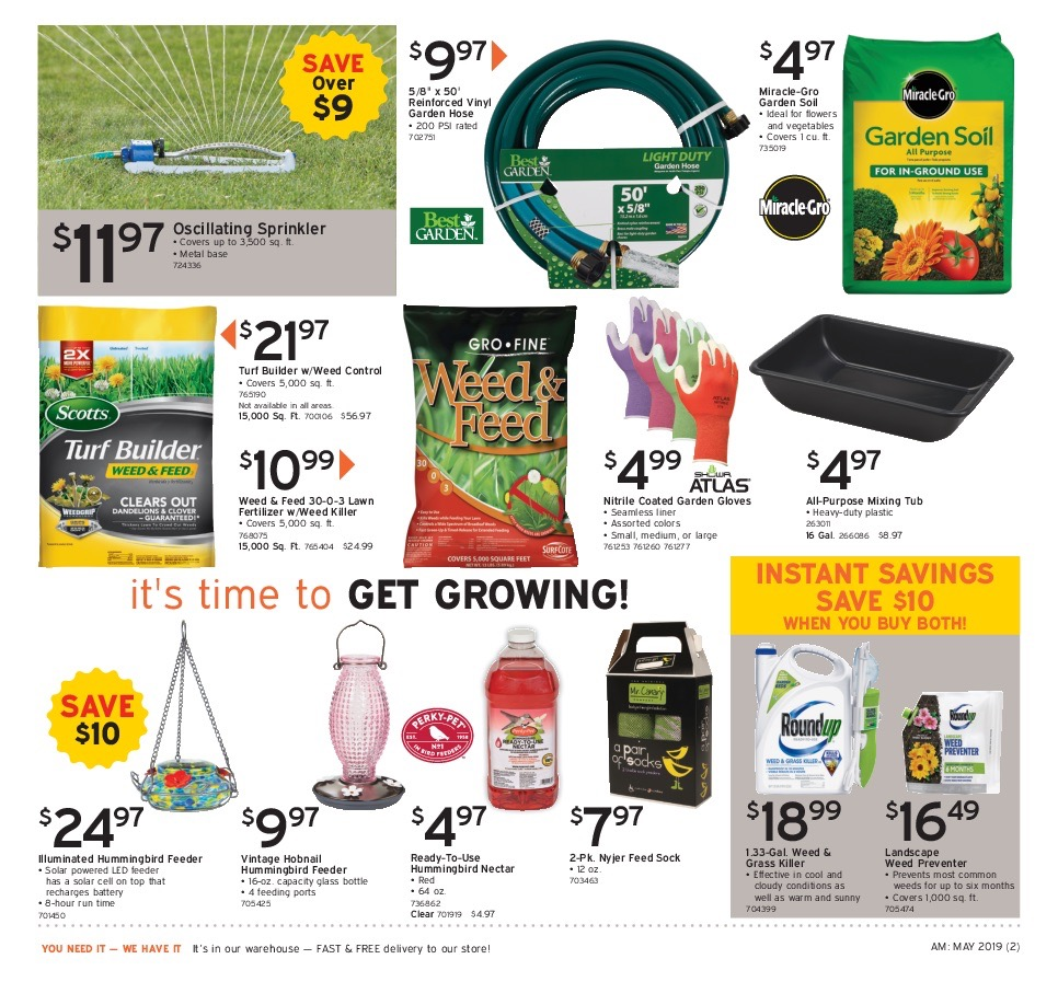 Monnick Supply's May 2019 Specials