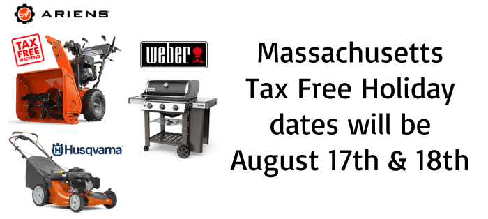 Monnick Supply - Massachusetts Sales Tax Holiday Weekend